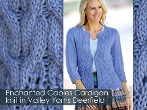 Enchanted Cables Cardigan from Knitter's Magazine