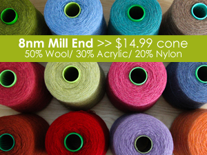 8nm Mill End Coned Weaving Yarn