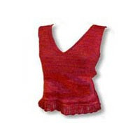 E113 Lace Edged V-Neck Tank