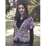 Artyarns 111 Silk Blossom Crocheted Cardigan