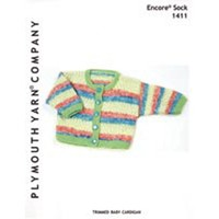 1411 Trimmed Baby Cardigan