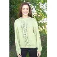 IN74 Lace Inset Pullover