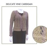 Knit One Crochet Too 1422 Delicate Vine Cardie