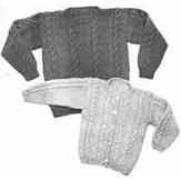 Yankee Knitter Designs 22 Child's Cable Sweater Pullover or Cardigan