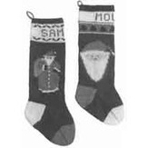 Yankee Knitter Designs 27 Santa Christmas Stockings