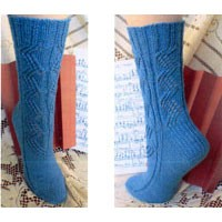 S17 Concertina Lace Socks