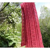 Baah Yarns Pink Coral and Lace Scarf
