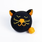 Lantern Moon Black and Orange Cat Tape Measure