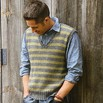 Blue Sky Fibers Men's Striped Vest - Msvpdf