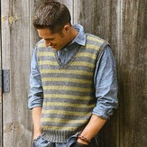 Blue Sky Fibers Men's Striped Vest