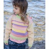 Cascade Yarns DK227 Girl's Striped Sweater (Free)