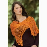 Cascade Yarns Orange Crush Shawl (Free)
