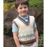 Cascade Yarns W356 Dressing for Style in Fair Isle - His Vest (Free)
