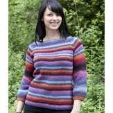 Cascade Yarns W437 Cable Raglan Sweater (Free)