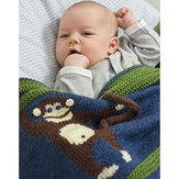 Cascade Yarns W610 Monkey Business Blanket (Free)