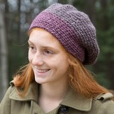 Classic Elite Yarns Majestic Tweed Slouch Hat (Free)