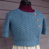 Crochet by Faye Hydrangea Cropped Cardigan PDF