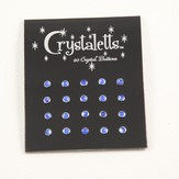 Crystaletts 3mm Crystal Buttons 20 Carded