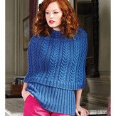 Debbie Bliss Cabled Cape & Ribbed Top PDF