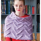 Debbie Bliss Cabled Shoulder Cape PDF
