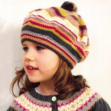 Debbie Bliss Striped Beret PDF