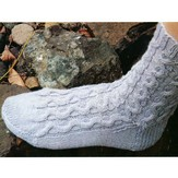 Lisa Ellis Designs A-9 Magic Loop Cable Socks PDF