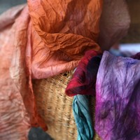 Dyeing Silk Scarves