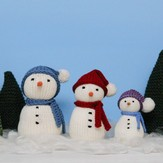 Snow Family and Evergreens