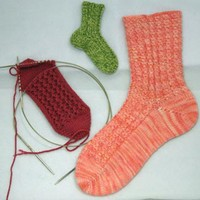 Mix-and-Match Rib Toe-Up Socks PDF