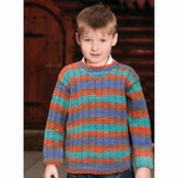 Knit One Crochet Too 1960 Child Mock Rib Pullover