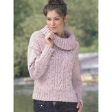 James C. Brett JB044 Cabled Sweater