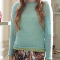 Contrast Edged Sweater