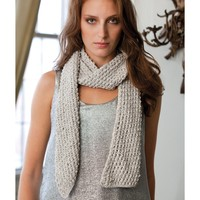 Hilary Silver Bias Scarf Kit (Free Pattern)