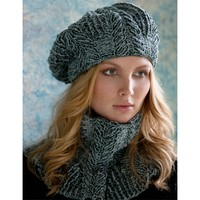 Sandra Cabled Cowl and Beret Kit (Free Pattern)