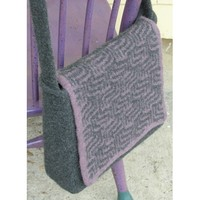 141 Purple Maze Messenger Bag