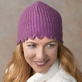 Valley Yarns 292 Lavender Ribbed Hat