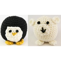 353 Crocheted Penguin and Polar Bear
