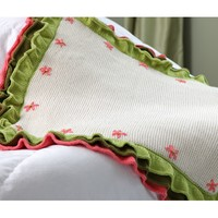 406 Flower Garden Ruffled Baby Blanket Kit