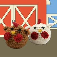 426 Crocheted Chickens Kit (Free Pattern)