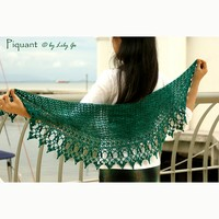 Piquant Crocheted Shawl PDF
