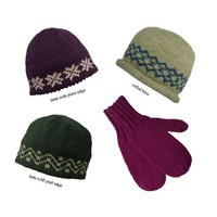 Straight Needle Hat & Mittens
