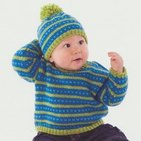 254 Fair Isle Sweater and Hat
