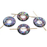 Glass Shawl Pins