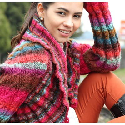 Free Knitting Patterns Noro Yarn : Noro Kureyon Cabled Shrug (Free) at WEBS Yarn.com