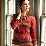 Noro Mesh Banded Pullover PDF