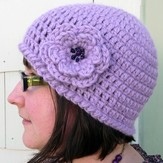 Linda Permann Quick and Simple Crochet Hat with Flower PDF