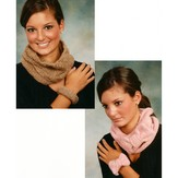 Plymouth Yarn 1751 Cowl and Bracelet Sets