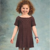 Plymouth Yarn 1946 Worsted Merino Superwash Girl's Smock Dress