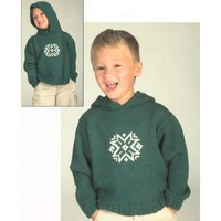 2058 Worsted Merino Superwash Snowflake Hoodie