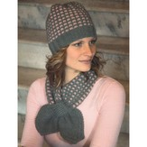 Plymouth Yarn 2135 Encore Worsted Mosaic Scarf & Hat